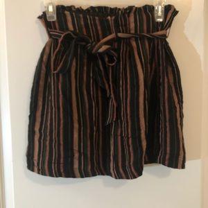 American Eagle Brown Paper Bag Mini Skirt Sz M